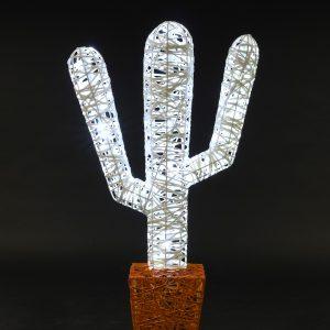 Cactus 04, structure 3D, fibre minérale, led