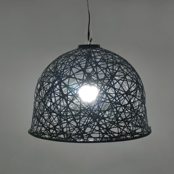 Lustre 01, structure 3D, fibre minérale, led