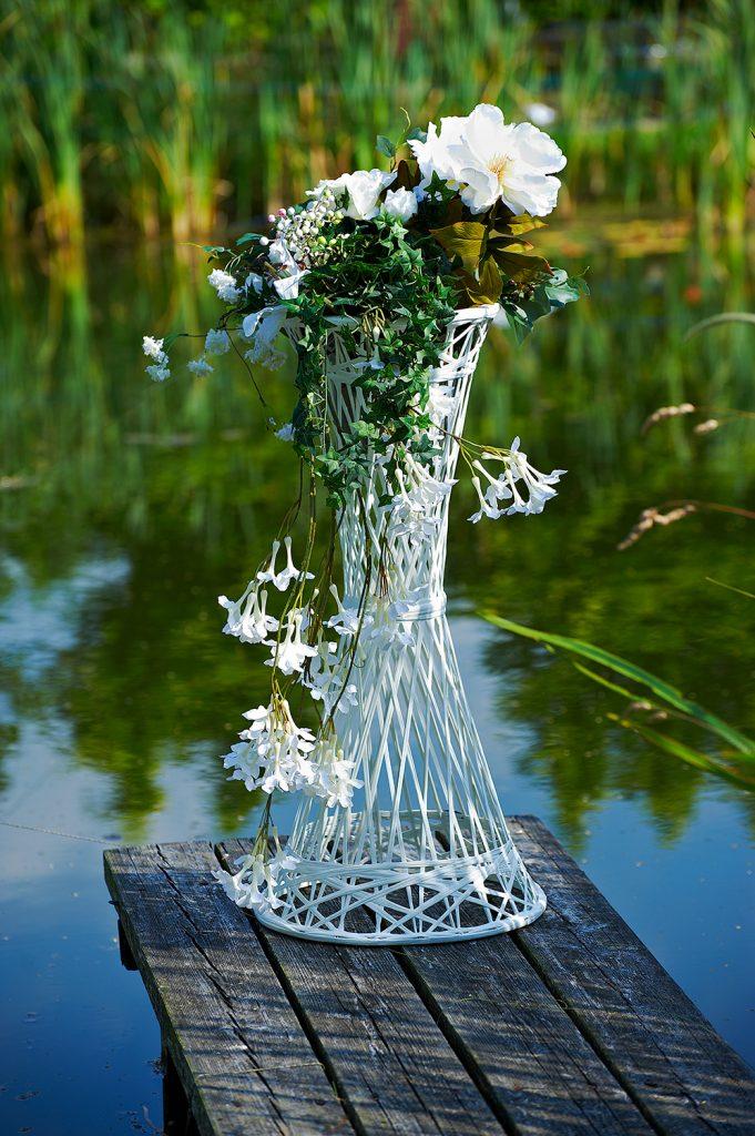 Décoration de mariage tissée en fibre de verre
