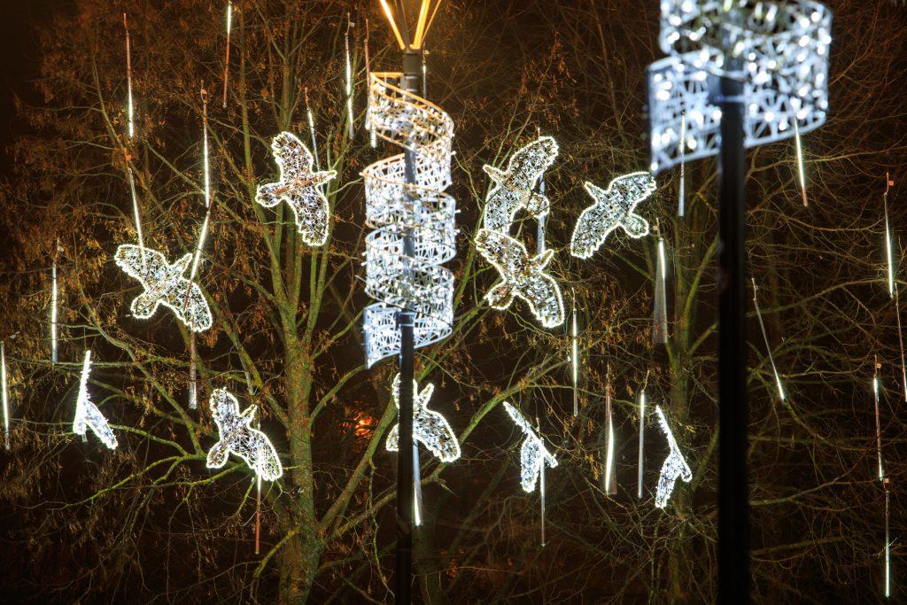 illumination féerique mariage lumineuse tissée en fibre de verre - location décoration lumineuse mariages