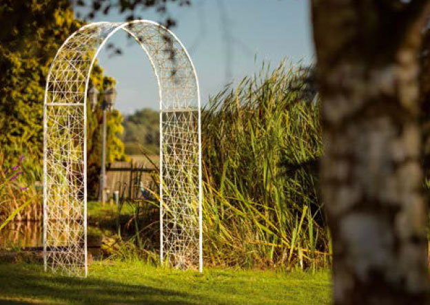 Arche décorative, mariage tissé en fibe minérale