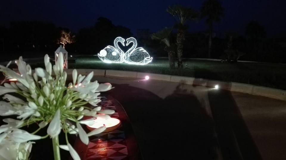 Décoration de mariage, signes 2d lumineux tissées en fibre minerale - location décoration lumineuse mariages