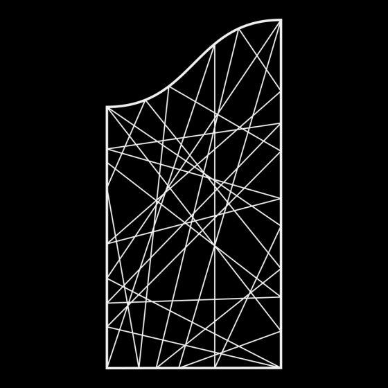 Claustra vague 2D fibre de verre tissée
