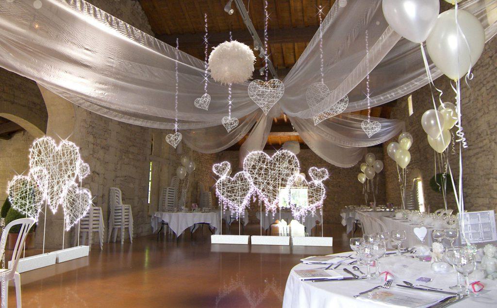Décoration de mariage, décoration de salle de mariage lumineuse tissée en fibre de verre - location décoration lumineuse mariages