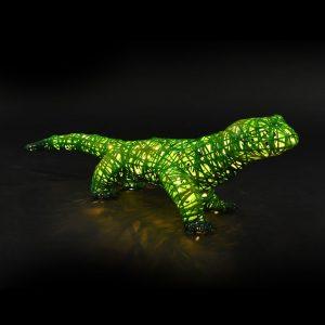 Salamandre lumineuse, structure 3D, fibre minérale, led