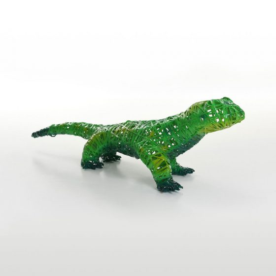 Salamandre, structure 3D, fibre minérale