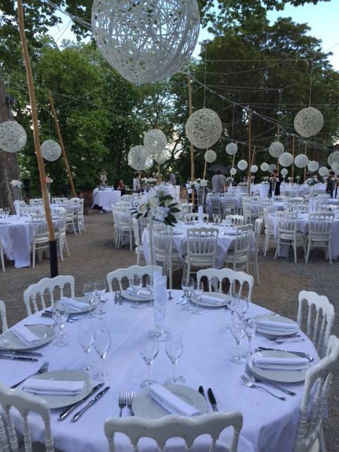 Décoration de mariage suspendu, sphères lumineuses 3d tissée en fibre de verre